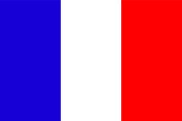 Official national flag of France background closeup