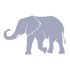Hand drawn silhouette elephant illustration