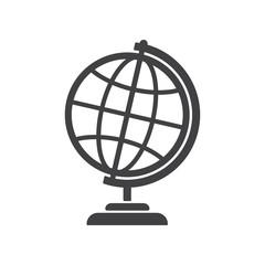 Geography earth globe icon