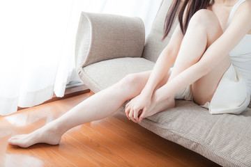 フットケア、足、美脚、脚線美、女性