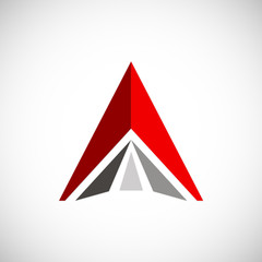 triangle shape construction vector logo