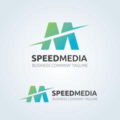 Letter M vector logo symbol. Media logo template.