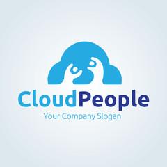 Cloud Logo. Cloud Icon. Cloud Symbol. Vector logo template