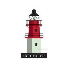 Isolated on white background Lighthouse