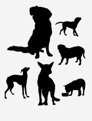 Dog Silhouettes, art vector design