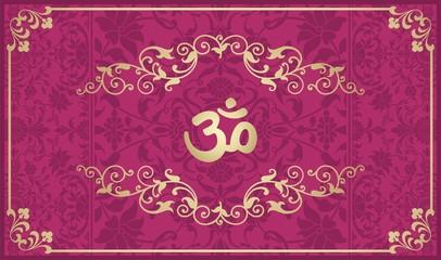 aum syllable, paisley design ,Hinduism, India