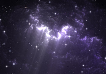 Giant glowing nebula