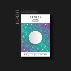 Abstract background vector brochure template. Flyer Layout.