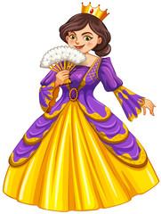 Queen wearing golden crown
