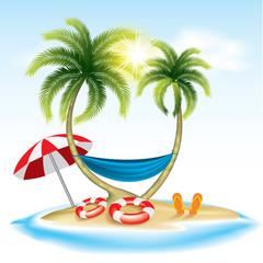 Summer holiday-beach holiday