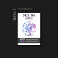 Abstract background vector brochure template. Flyer Layout