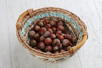 Hazelnuts in the basket