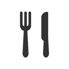 The fork knife icon. Flat Vector illustration