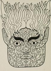 ink portrait/mask illustration