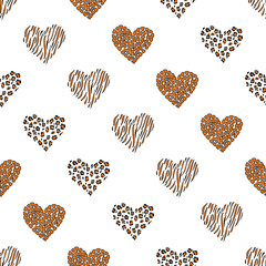Seamless pattern background heart