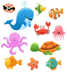 Sea Animals Illustration