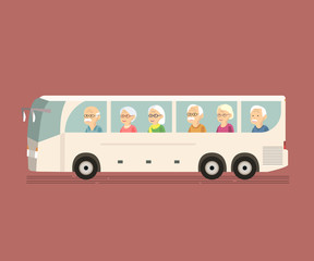 Seniors Travel by Bus