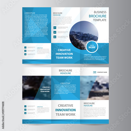 Blue elegance business trifold business leaflet brochure flyer blue elegance business trifold business leaflet brochure flyer template vector minimal flat design set wajeb Images