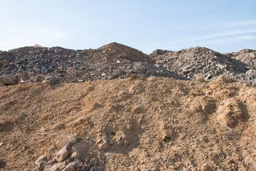 Construction site waste mound