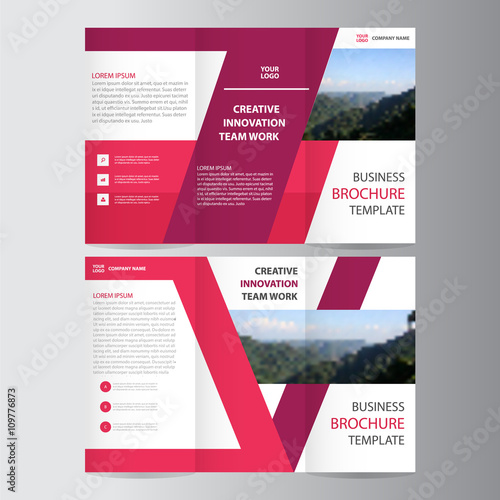 Purple Pink Elegance Business Trifold Business Leaflet Brochure - Tri fold business brochure template
