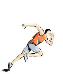 illustrazione di specialità olimpiche, atletica, corsa. olimpiadi