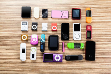 mp3 player on the table