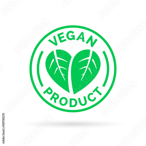 Vegan product icon design  Vegan product symbol  Vegan