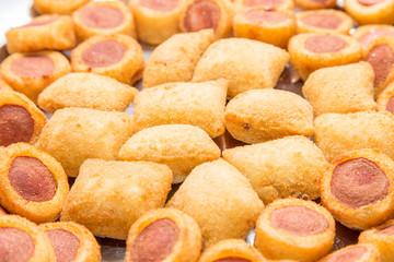 Mix of brazilian fried snacks