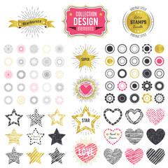 Collection of premium design elements. illustration