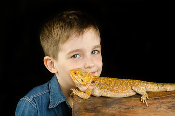 kid and australian dragon