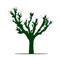 Shape of Tree. Vector Illustration.