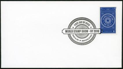 USA - 2015: dedicated World Stamp Show NY 2016