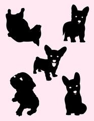 Little Dogs Silhouette