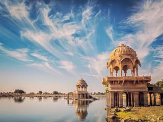 Keuken foto achterwand India Indian landmark Gadi Sagar in Rajasthan