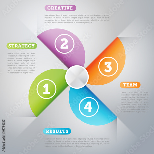 Infographics elements. Creative business concept of stage, parts ...