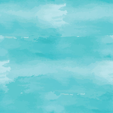 Blue abstract watercolor seamless background.