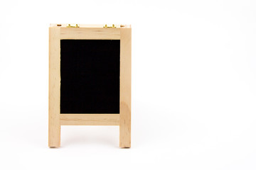 Standing board on white background