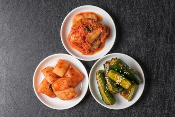 ポピュラーなキムチ Kimchi of three kinds of Korean pickles