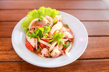Thai spicy and sour seafood salad