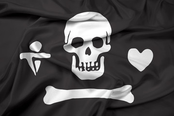 Waving Stede Bonnet Pirate Flag