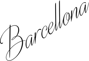 Barcellona text illustation