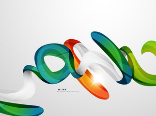 Wave light abstract background
