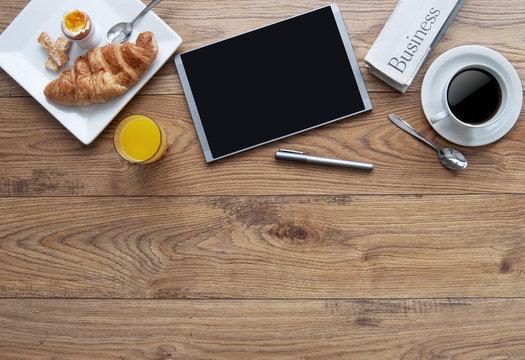 Business breakfast background