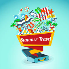 Summer Travel Concept Poster