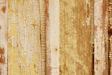 Old wooden textured background in a vertical presentation.