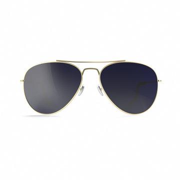 Sunglasses dark black sunglasses isolated on white background.