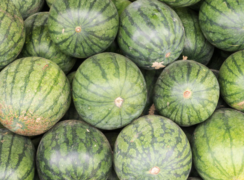 Fresh watermelon pile