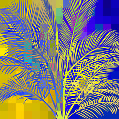 abstract palm in pixels 1