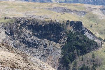 美ヶ原の崖