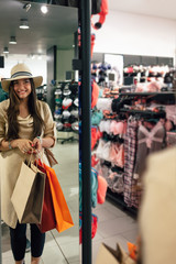 Woman shopping in the store